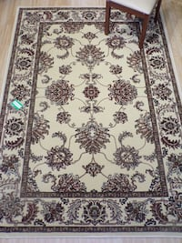 White and brown floral area rug Kennesaw, 30152