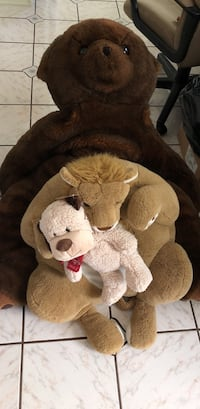 Giant Brown bear and lion and dog plush toy Ventura, 93004