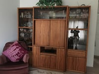 brown wooden cabinet with shelf Manteca, 95336