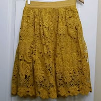 women's yellow floral lace skirt Ashburn, 20148
