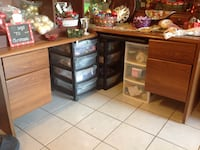 """!!""""L"""" shaped desk. 4 drawers and slide out tray!!  Von Ormy, 78073"""