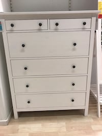 Lightly used IKEA dresser & matching night stand with glass toppers Calgary, T2S 0K8
