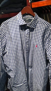 Polo White and blue checker button-up shirt Alnwick/Haldimand, K0K