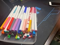 assorted color plastic pen lot New Westminster, V3M 5H5