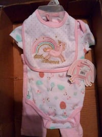 baby's white and pink onesie Alamo, 78516