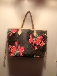 black and red floral tote bag Anaheim