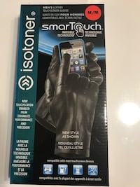 Black Leather  Smart Touch Gloves