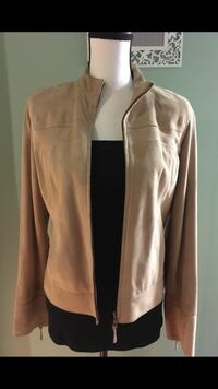 Cole Haan Suede Goatskin Leather Zip Jacket Size:S Richmond, V7E 6S2