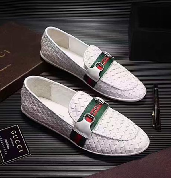ef3f7b44cff Used White Woven Leather Gucci Loafers for sale in Garland - letgo