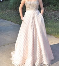 gold prom dress . wore for a few hours . Temple, 30179
