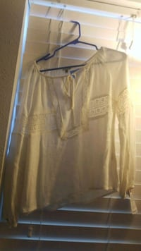 white button-up long-sleeved shirt Odessa
