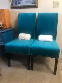 Teal blue accent/dining chairs (2) Purcellville, 20132