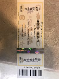 2 Tickets to UK vs TENNESSEE Lexington, 40509
