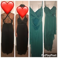 two green and black v-neck dresses collage Mobile, 36609
