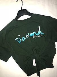 Diamond Supply Co: Size Large Tie Crop Top Surrey, V3T 1S2