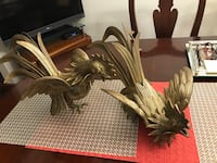 Two beautiful pure brass roosters!! Will look great in any home!!! Jessup, 20794