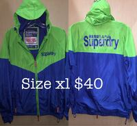 Superdry windbreaker jacket size xl fit tagged xxl New Westminster, V3M 1B9