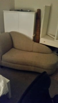 brown fabric sofa chair with ottoman Longueuil, J4K 2W6