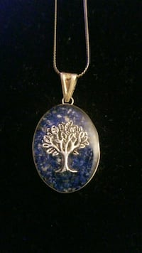 Sterling silver necklace with tree of life charm Hyattsville, 20784
