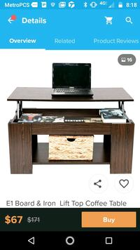 brown wooden TV stand with flat screen television Kansas City, 64129