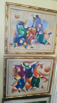 two brown wooden framed painting of fruits Montreal, H3R 3L4