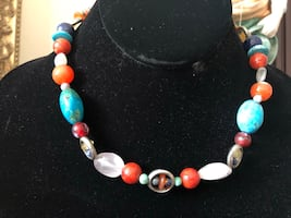 Colourful stone necklace