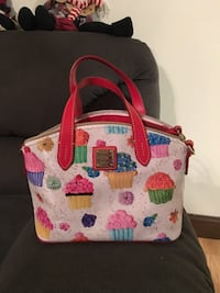 pink and multicolored floral tote bag 64 mi