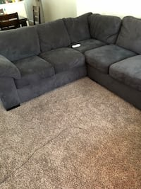 gray suede sectional sofa with ottoman Modesto, 95358