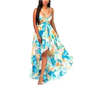 women's blue and red floral dress Tampa, 33612