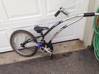 black and blue hardtail mountain bike Toronto, M9P 1K2