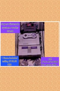 Super Nintendo system 1 Game included