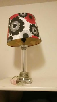 black, white, and red table lamp West Des Moines, 50266