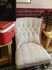 white and pink floral padded armchair Selma, 27576
