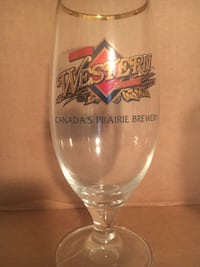 Great Western Brewery beer glass (clear) Sherwood Park, T8A 5V2