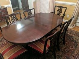 Dining room table and chairs (8)