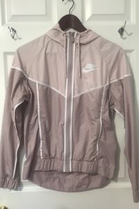Dusty pink nike windbreaker