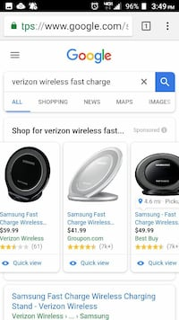 black and gray Samsung fast wireless chargers screenshot Evansville, 47712