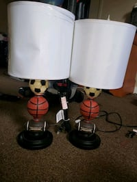 two white and black table lamps Peekskill, 10566