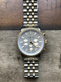 Round gold michael kors chronograph watch with link bracelet Dallas, 30132