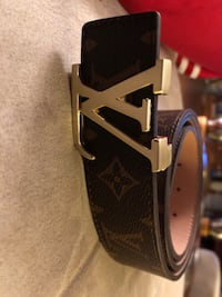 black and red Louis Vuitton leather belt Calgary, T2M