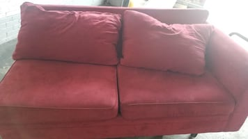 Two piece Red Velvet colored couch