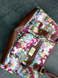 pink and multicolored floral leather tote bag Ottawa, K2P