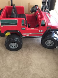 Red and black Hummer ride-on toy car Mason, 45040