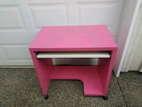 Pink computer desk with wheels Port Orchard