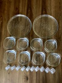 clear glass bowl and cups Vancouver, V5R 6C4