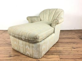 Vintage 1980's Style Upholstered Chaise Lounge (1014081)