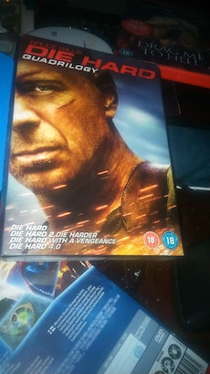 Die Hard 1-4 på dvd. Bruce Willis