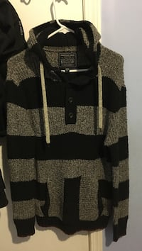 brown and black stripe pull-over hoodie New Westminster, V3M