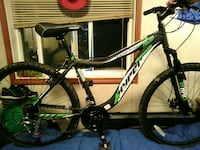 black and green hyper hard tail mountain bike Surrey, V3T 4B3