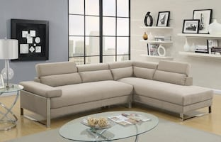 BRAND NEW SECTIONAL WITH FLIP UP HEADREST